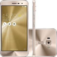 """Smartphone Asus Zenfone 3 Dourado 5,2"""" 16GB Dual Chip Câmera 16MP Octa Core - R$849,92"""