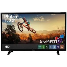 Smart TV LED 32'' Philco PH32E31DSGW HD com Conversor Digital 2 HDMI 1 USB Wi-Fi