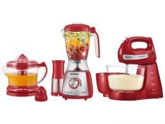 Kit Gourmet Red Premium Mondial - com Liquidificador + Batedeira + Espremedor - R$200