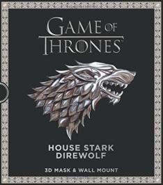 [Pré-venda] Game Of Thrones - The House Stark Direwolf - 3D Mask & Wall Mount - R$48