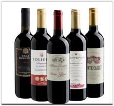 Kit com 5 vinhos(Espanha e Itália) por R$ 123