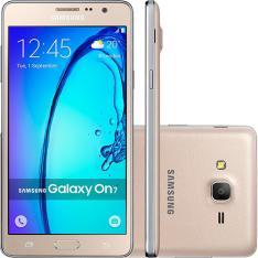 "Smartphone Samsung Galaxy On 7 Dual Chip Android 5.1 Tela 5.5"" 16GB por R$ 599"