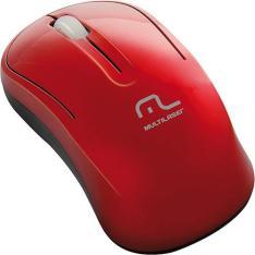 Mouse Sem Fio 2.4 Ghz Vermelho - Multilaser - R$7,99