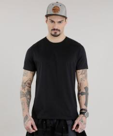 camiseta básica preta - 14,00