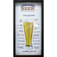 [Visa Checkout] Quadro Porta Tampinhas Kapos Cerveja 24 x 42 cm - R$10