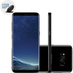 """Smartphone Samsung Galaxy S8 Dual Chip Android 7.0- 5.8"""" Octa-Core- 64GB 4G 12MP - Preto - R$2.400"""