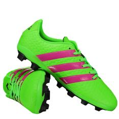 Chuteira Adidas Ace 16.4 FXG Campo Juvenil Verde 58,41