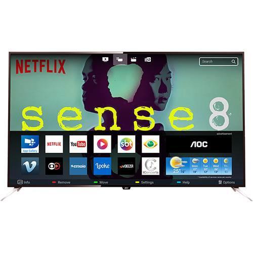 smart tv led 43 aoc le43u7970 ultra hd 4k com conversor. Black Bedroom Furniture Sets. Home Design Ideas