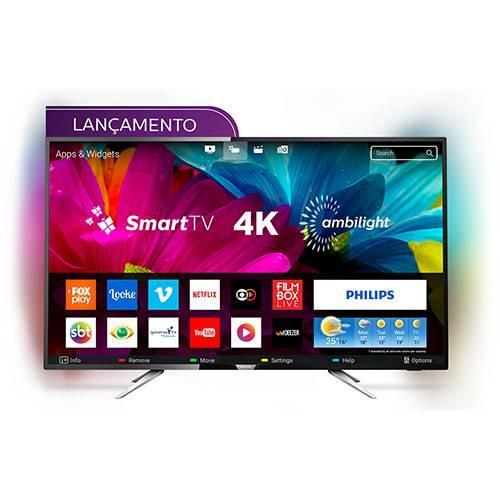 app smart tv led ambilight 55 philips 55pug6212 78 ultra hd 4k com conversor digital 4 hdmi 2. Black Bedroom Furniture Sets. Home Design Ideas
