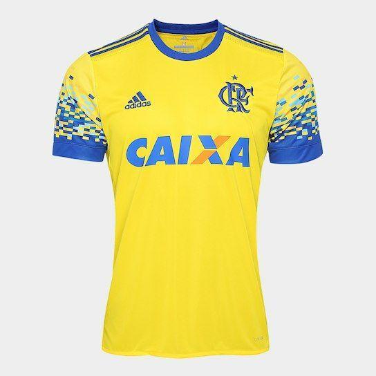 adff8c1bc2143 Camisa Flamengo III 17 18 s nº Torcedor Adidas Masculina