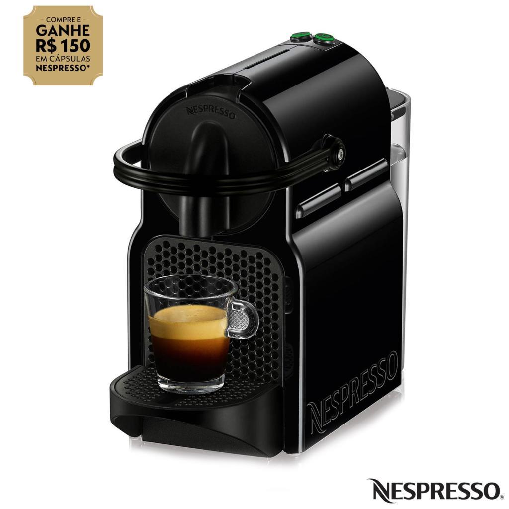 cafeteira nespresso inissia preta para caf espresso d40brbkne nld40brbkne prd r 203 pelando. Black Bedroom Furniture Sets. Home Design Ideas