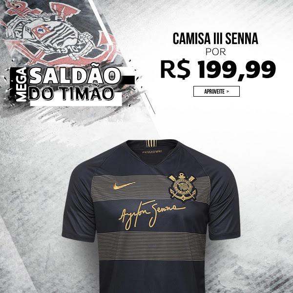 27e2307c45 Camisa Corinthians III 2018 s/n° - Torcedor Nike Masculina - Preto e  Dourado | Pelando