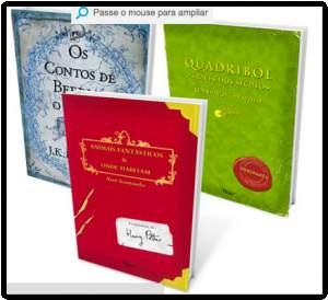 Kit Livros - A Biblioteca de Hogwarts (3 Volumes) R$ 18,00