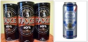 Cerveja FAXE 1L  e OeTTINGER 500ml por R$ 4 cada