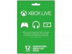 Voltou- [Magazine Luiza] ]Live Gold Card Microsoft 12 Meses - para Xbox 360 e Xbox One por R$ 89
