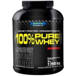 [Ricardo Eletro] 100 % Pure Whey 2268g - Probiotica - Chocolate R$ 180