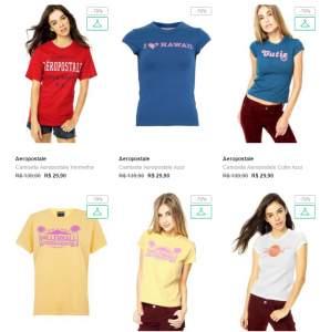 [Dafiti] Camisetas Aeropostale por R$30