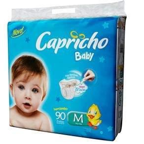 [Casas Bahia] Fralda Capricho Super Jumbo Tamanho M Com 90 unidades R$ 37