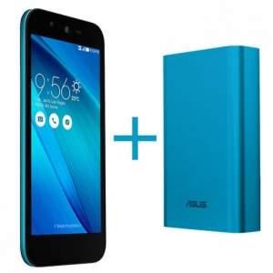 [Loja Asus] Promoção Novembro Azul - Celular Asus Live + Zen Power Azul por R$ 907