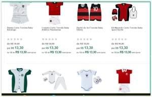 [Kangoolu] Diversos modelos de roupinhas de Time para Bebê por R$ 13