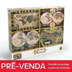 Quebra-cabeça 5000 peças mapas históricos Grow