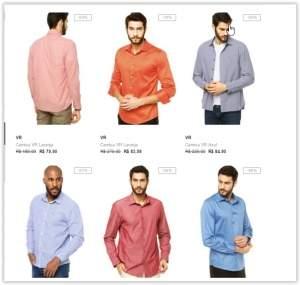 [Dafiti] Camisa Social da Marca VR a partir de R$ 80