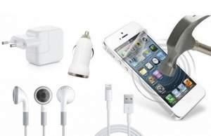 [Peixe Urbano] Kit para I Phone 4,5 e 6 Carregador 3 em 1, Fone de Ouvido e Película protetora
