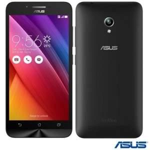 """Voltou [Fast Shop] Zenfone Go Dual Preto Asus, com Tela de 5"""" por R$ 635"""