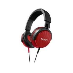 [Ricardo Elétrico] HeadPhone Philips SHL3100RD 1500 mW por R$60 - Cabo de 1,2m - Vermelho e Preto por R$ 57