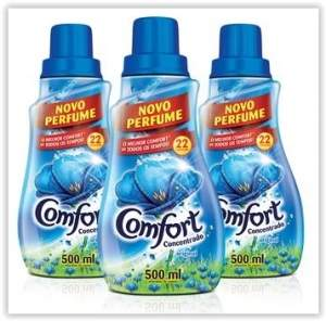 [Walmart] Kit com 3 Amaciantes Líquidos Comfort Concentrado Original 500ml  R$ 12