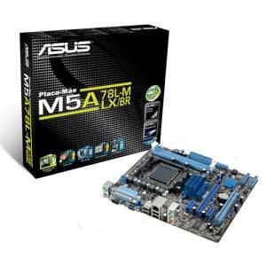 [Kabum]Placa-mãe ASUS Micro ATX p/ AMD AM3+ 95W M5A78L-M LX/BR, c/ Porta Serial, Porta Paralela, Compatível com FX R$250