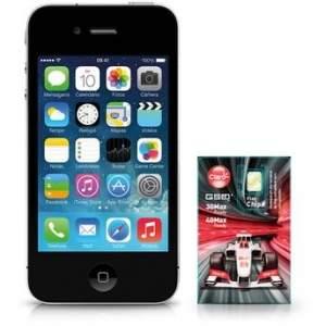 [Walmart] iPhone 4S Apple 8GB Preto MF263BR/A Desbloqueado + Chip Claro Triple Pré Pago R$ 899,00