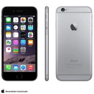 """[FAST] iPhone 6 Space Gray, com Tela de 4,7"""", 4G, 16 GB e Câmera de 8 MP - MG3A2BR/A R$ 2.860"""