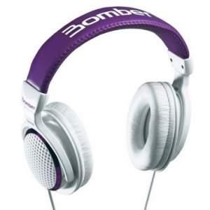 [RICARDO ELETRO]Fone de Ouvido Bomber Violet com Hastes Reguláveis e Flexíveis - Branco/Roxo - HB 01 R$ 30