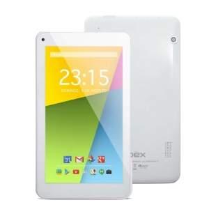 """[Pontofrio] Tablet Qbex TX754 com Tela de 7"""", 4GB, Câmera VGA, Wi-Fi, Android 4.4 e Processador Quad Core de 1.2Ghz - Branco R$ 180"""