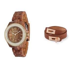 [Ponto frio] Kit Relógio Feminino Analógico Mondaine 76419LPMVDP1K e Pulseira Hermética Caramelo | - 73% de R$ 229,90 por R$ 62,90