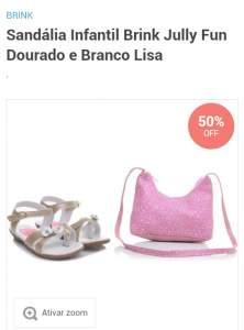 [Tricae] Sandália Brink com Bolsa - R$25