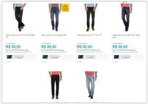 [Submarino] Diversos modelos de Calça Jeans Levi's por R$ 81