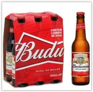 [Empório da Cerveja] Budweiser 343ml - Caixa com 6 unidades por R$ 15