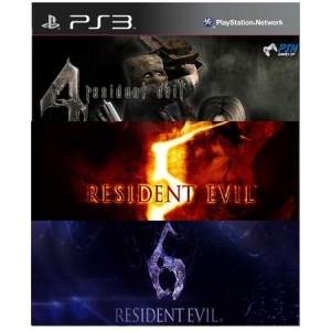 [PSN Games] Combo Resident Evil 4 5 6 PS3 - Mídia Digital por R$ 50