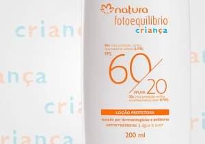 [NATURA] Loção Protetora Criança FPS 60 / FPUVA 20 Fotoequilíbrio - 200ml por R$ 47