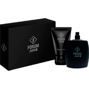[Sou Barato] Kit Perfume Forum Jeans2 Unissex Eau de Toilette 100ml + Shower Gel 90ml por R$ 50