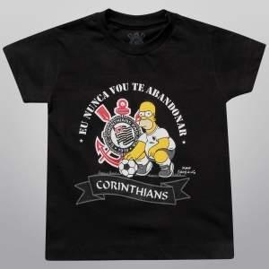 [ShopTimão] Camiseta Simpsons Corinthians Eu Nunca Vou Te Abandonar INFANTIL R$20