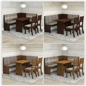 [Americanas] Conjunto Mesa de Canto Kamy com Banco e 2 Cadeiras  por R$ 379