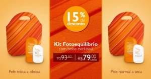 [Natura] Kit Essenciais do Verão - Loção Protetora Facial + Loção Protetora Corporal + Bolsa - R$79,00