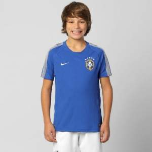 [Netshoes] Camisa Nike Seleção Brasil Treino 2014 - Tamanho G Juvenil - R$40