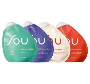 [Natura] Kit Cuidados Diários SOU - Sabonete líquido + Hidratante + Shampoo + Condicionador por R$ 35