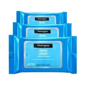 [NetFarma] Neutrogena Deep Clean Lenços de Limpeza, Pague 2 e Leve 3 - R$41