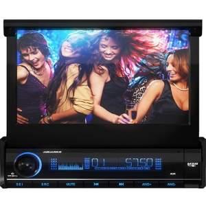 """[ShopTime] DVD Player Automotivo Aquarius Retrátil DPA 3001 Touch Screen 7"""" USB por R$ 273"""