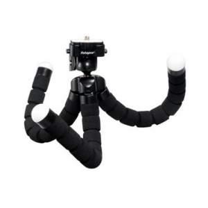[Ricardo Eletro] Mini Tripé Fotográfico Greika RM-100 Flexível e Cabeça Giratória 360 graus por R$ 19